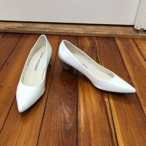 b9382b071f62 Stuart Weitzman Shoes - Stuart Weitzman Poco chain white silver low heels